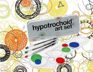 11pc HYPOTROCHOID ART Set +Storage TIN *Create Colorful SPIRAL Wheel SPIROGRAPH