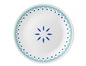 Corelle SANTORINI SKY 10 1/4 DINNER or 8 1/2 LUNCH PLATE *Cobalt Teal Turquoise
