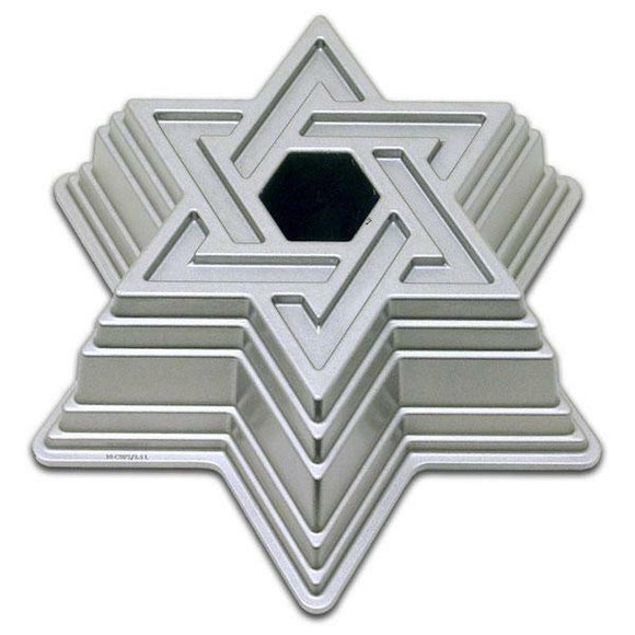 NORDICWARE Jewish STAR OF DAVID Hanukkah BUNDT Cake Pan HEAVY Cast Aluminum NEW