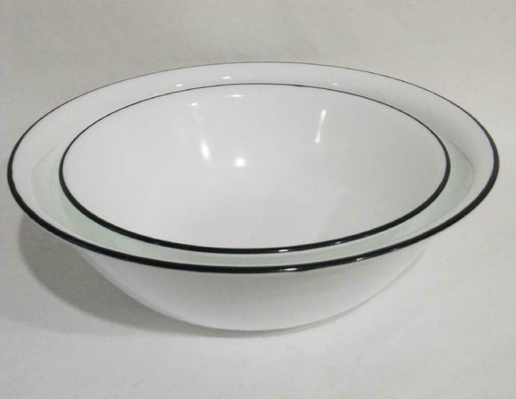 Corelle BLACK RIM Choice: 1 Qt or 2 Qt SERVING BOWL *Cafe, Night, Lace, Beads