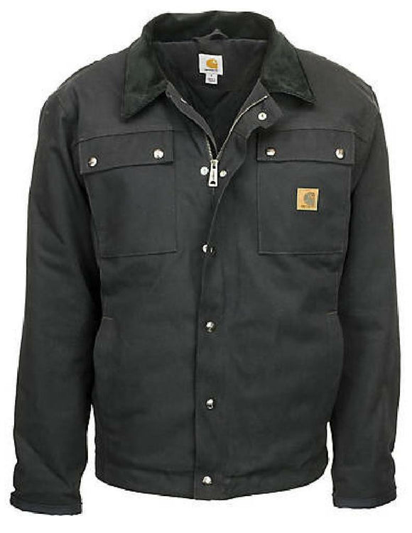 CARHARTT TRACTOR JACKET Coat Flannel Lined Security Pockets Duck BROWN or BLACK