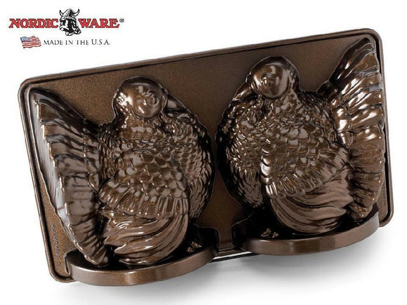Nordicware 3D BRONZE TURKEY Bundt Cake Pan 15