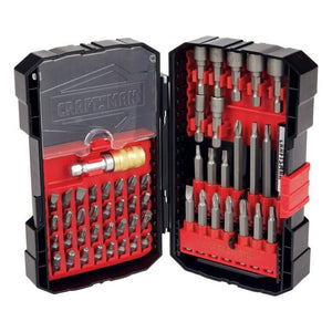 54-pc CRAFTSMAN Tools Speed Lok POWER DRIVING & Insert BIT SET w/Case Nut Setter