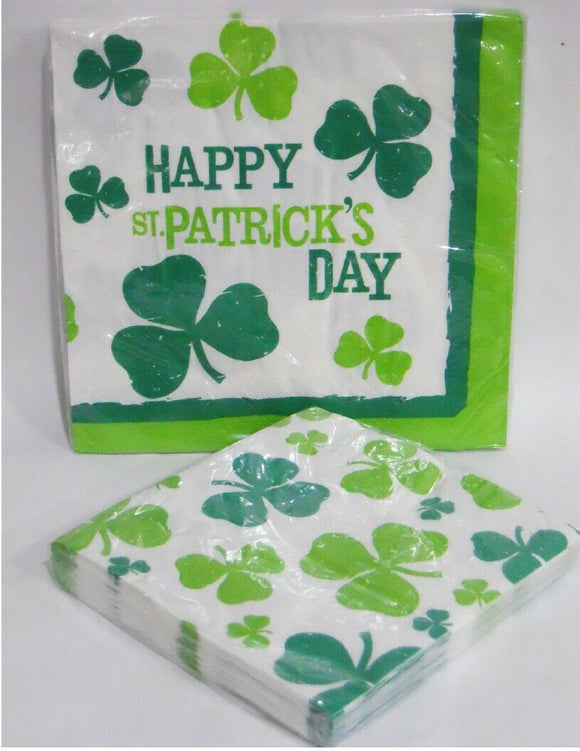 ST. PATRICKS DAY Lucky Shamrock Irish Party Choose: DINNER or BEVERAGE NAPKINS