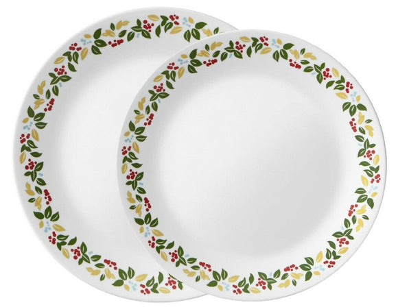 Corelle HOLIDAY BERRIES Choose DINNER or LUNCH PLATE Seasonal Christmas Wreath