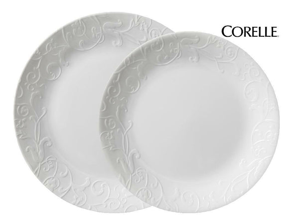 Corelle BOUTIQUE Bella Faenza DINNER or LUNCH PLATE *Old English Garden Scrolls