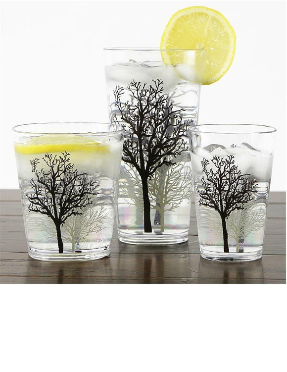 4 Corelle TIMBER SHADOWS Acrylic DRINKWARE Beverage Glass CHOOSE: 19, 14 or 8-oz