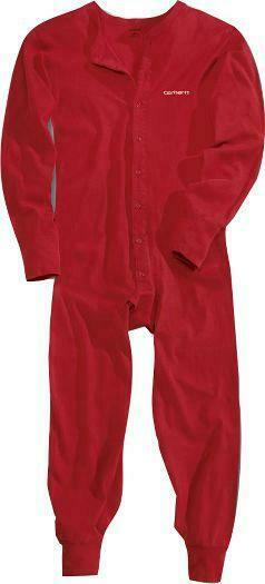 CARHARTT UNION SUIT Midweight 8-oz Cotton BRIGHT RED Work Warm Outdoors 2XL
