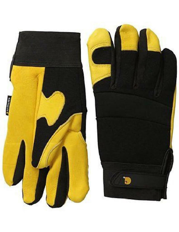 CARHARTT Insulated DEERSKIN Leather GLOVES *Moisture Wick Stretch Work Farm A550
