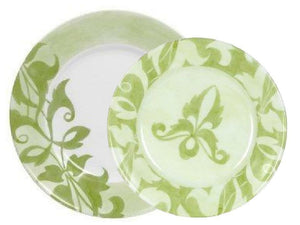 "1 NEW Corelle ULTRA CHEVERRY 8 1/2"" LUNCH Salad PLATE *Khaki Green White Floral"