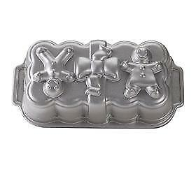Nordicware GINGERBREAD MAN & GIRL HOLIDAY LOAF PAN Bread Cake Holiday Fun *NEW