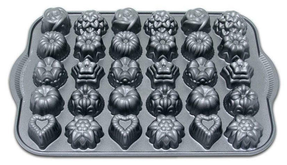 Nordicware Bundt TEA CAKES & CANDIES PAN *30 Mini Candy Molds SUNFLOWERS Hearts