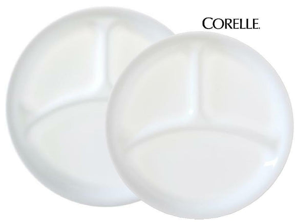 1 NEW Corelle WINTER FROST WHITE Choose: DIVIDED DINNER or  LUNCH PLATE Picnic