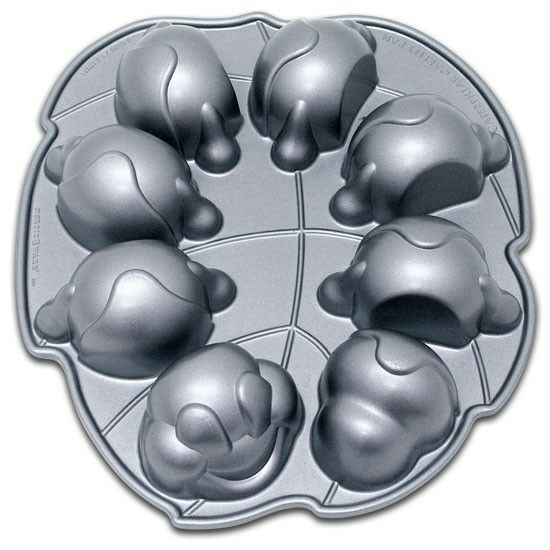 Nordicware 3D CATERPILLAR Cakelet Cake 11x13 HEAVY Cast Aluminum Pan *Brand New
