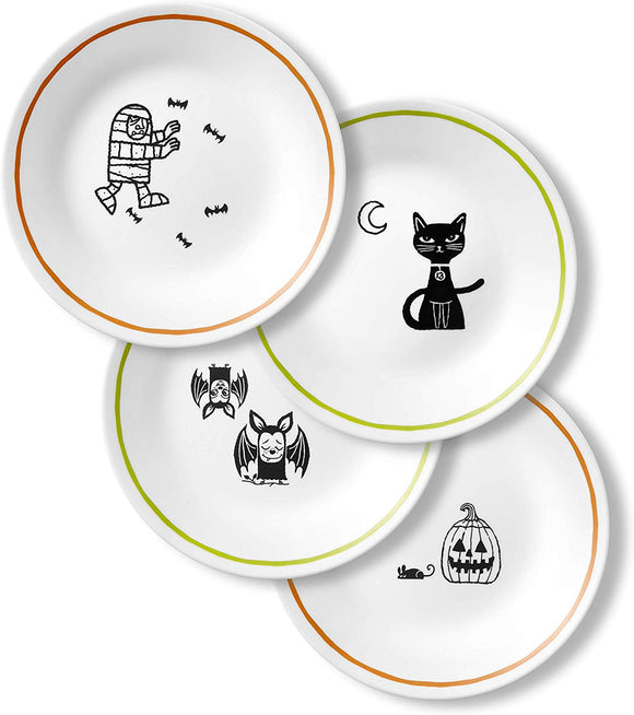 4-pc CORELLE Halloween PARTY GHOULS 6 3/4