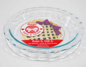 "New PYREX Easy Grab CLEAR GLASS 11-1/4"" Scalloped Rim PIE PLATE Quiche Multi Dish"