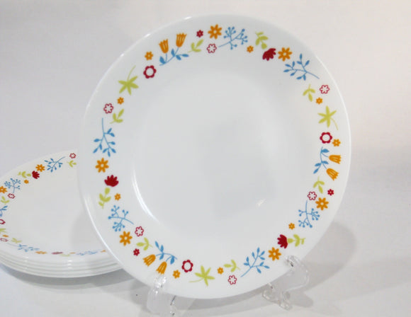 NEW 1 Corelle FEBE DITSY FLORAL 6 3/4 BREAD Dessert PLATE Scattered Wildflowers