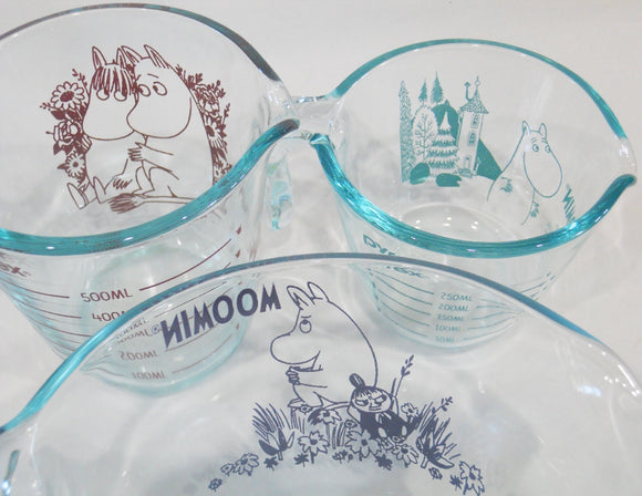 HTF New 3-pc MOOMIN x PYREX Measuring Cup Set *Moomintroll Snorkmaiden Little My