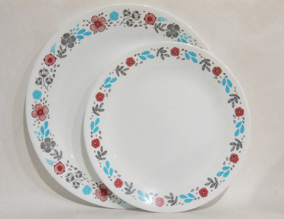 Corelle NORDIC BLOOMS **Choose: 10 1/4 DINNER or 8 1/2