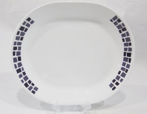 *NEW Corelle Precious Colors SERVING PLATTER *Mosaic Tiles AMETHYST PURPLE