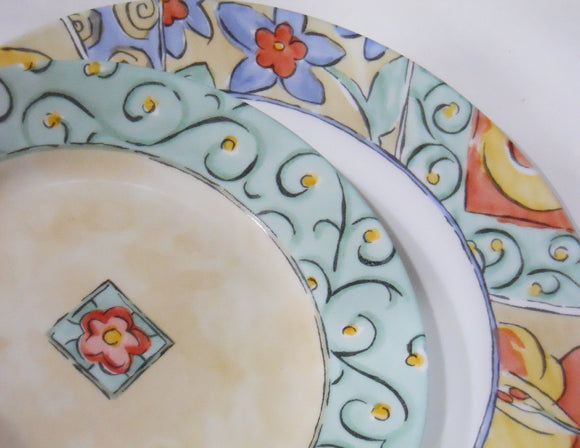 Corelle WATERCOLORS Choose: 8 1/2 LUNCH or 10 3/4 DINNER PLATE Floral Fruit