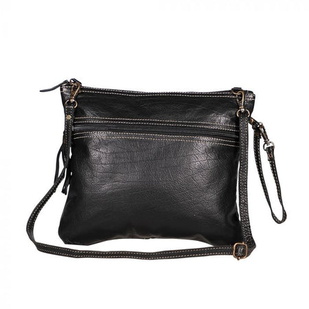 MYRA BLACK LEATHER BAG