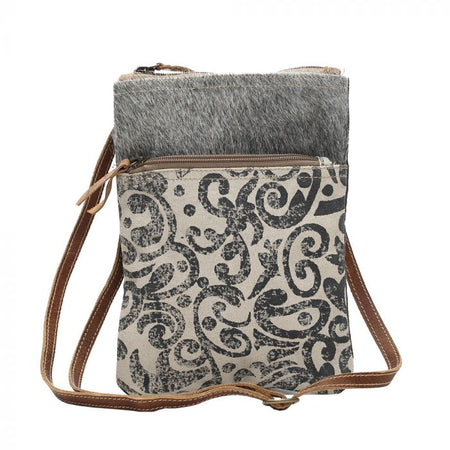 MYRA LEAF PATTERN CROSSBODY BAG