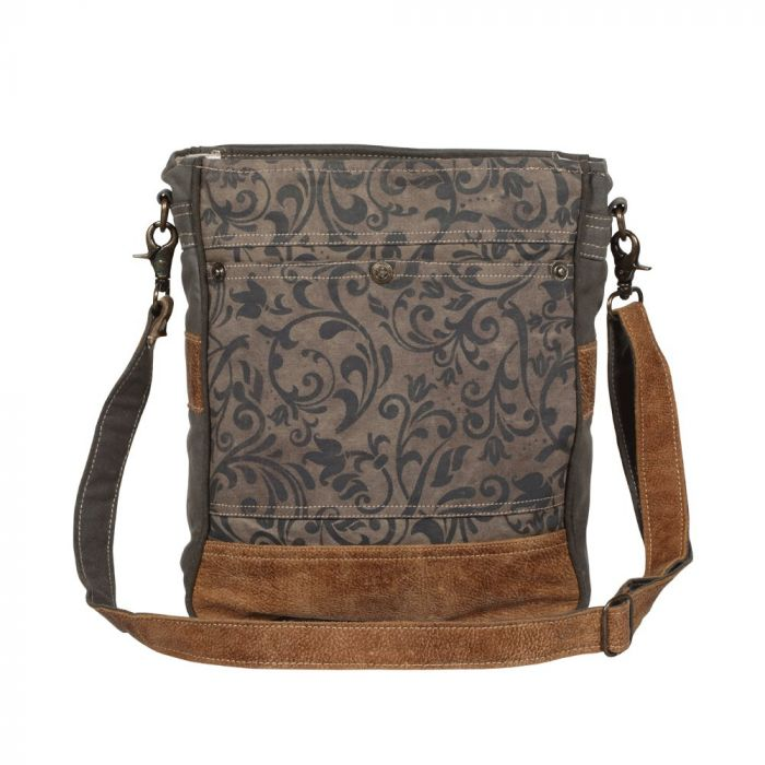 MYRA WALNUT PATTERN SHOULDER BAG
