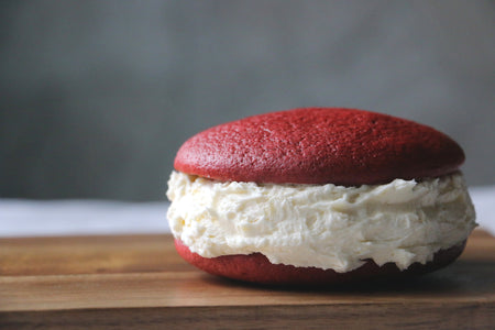 Red Velvet Whoopie Pie with CLASSIC Filling (1 Large Dozen)