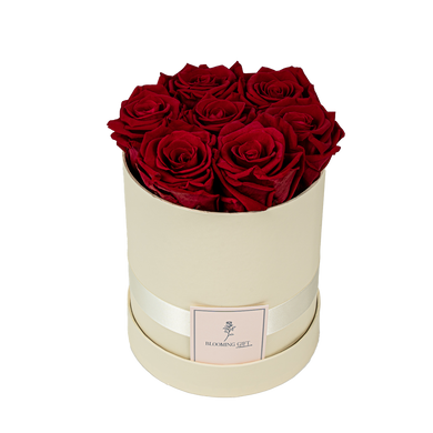 Flowerbox white ~ with red roses