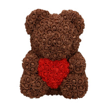Load image into Gallery viewer, Rose Bear brown with red heart