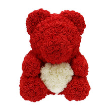 Afbeelding in Gallery-weergave laden, Rose Bear red with white heart