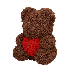 Rose Bear brown with red heart