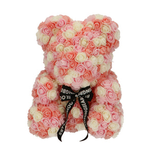 Rose Bear with multicolor roses