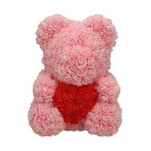 Load image into Gallery viewer, Rose Bear pink with red heart