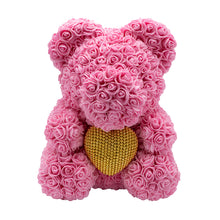 Afbeelding in Gallery-weergave laden, Rose Bear babypink with golden heart