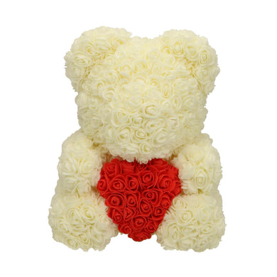 Rose Bear white with red heart