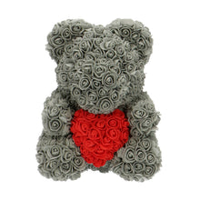 Afbeelding in Gallery-weergave laden, Rose Bear grey with red heart