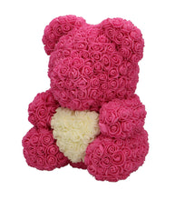 Afbeelding in Gallery-weergave laden, Rose Bear pink with white heart