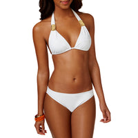Push up bikini top with crystal logo