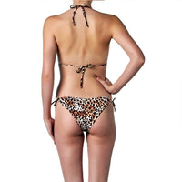 Animal print bikini set cheeky bottom back