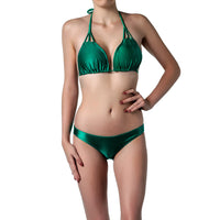Plunge V-neck bikini set, Emerald Bay front