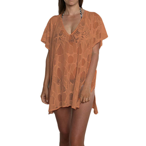 Knitted beach tunic - bikini cover-up dress