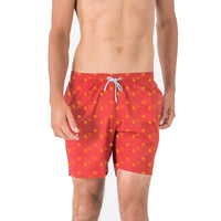 men's swimming shorts  5 inch inseam orange