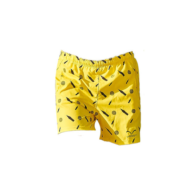Bright yellow short swimwear trunks Pascale Swim