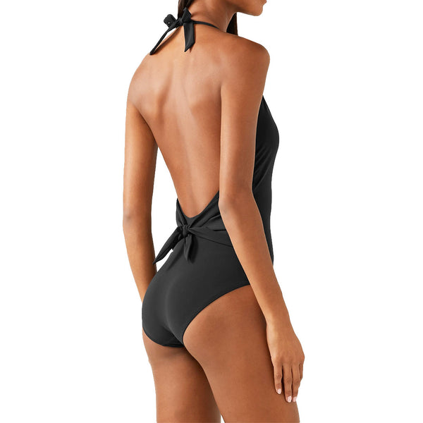 Once-piece halter swimsuit