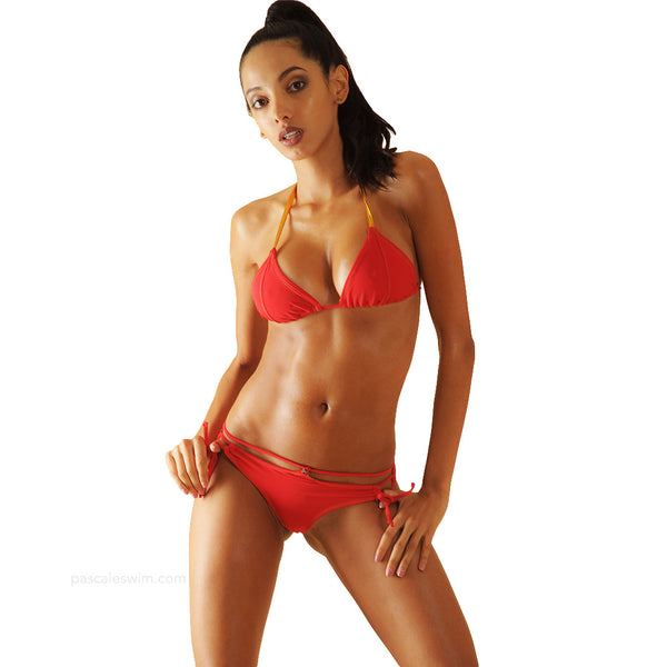 Super sexy red bikini, Posh,by Pascale swim  brings luxurious look