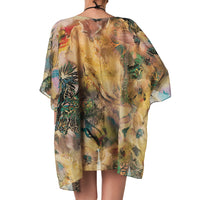 Tropical print tunic - summer dress perfect beach cover-up