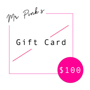Mr. Pink's Gift Cards