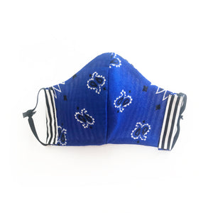 Kids cloth face mask - blue bandito